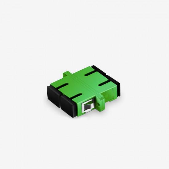 SC APC Duplex Single Mode Fiber Optik Adaptor - Fibline