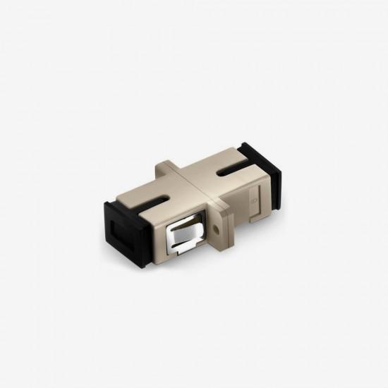 SC UPC  Simplex Multi Mode Plastik Fiber Optik Adaptor