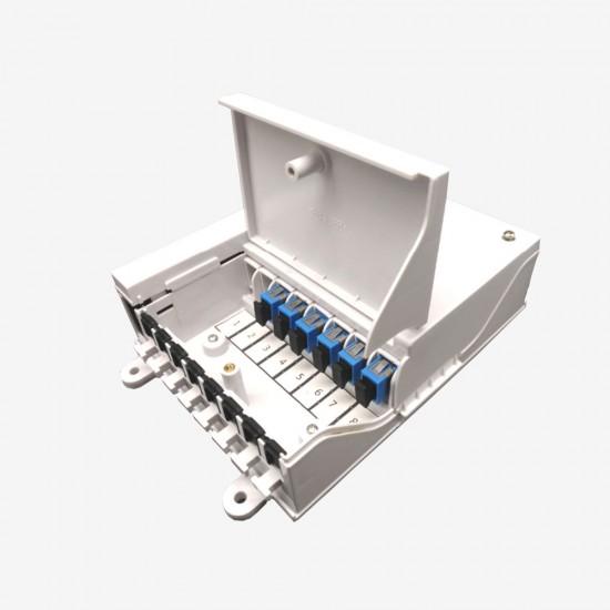 Fiber Optik Sonlandırma Kutusu (ODB) - Duvar Tipi 8 Port  - 1 Kasetli