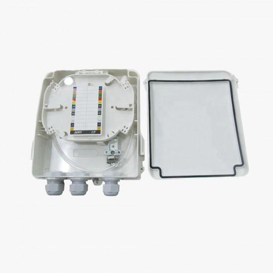 Fiber Optik Sonlandırma Kutusu (ODB) - Yeni Duvar Tipi 8 Port  - 1 Kasetli
