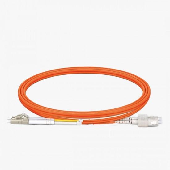 SC/UPC - LC/UPC OM2 50/125 Multi Mode Fiber Optik Patch Cord Duplex