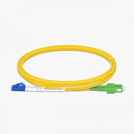 SC/APC - LC/UPC OS2 Duplex 9/125 Fiber Optik Patch Cord